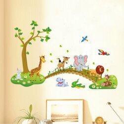 Állatkák a természetben - matrica a falra