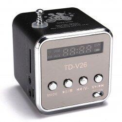 Hordozható mini sztereó FM rádió és MP3 zenelejátszó
